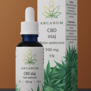 ARCANUM 500 mg CBD olaj, 10 ml, 5%