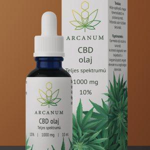 ARCANUM 1000 mg CBD olaj, 10 ml, 10%